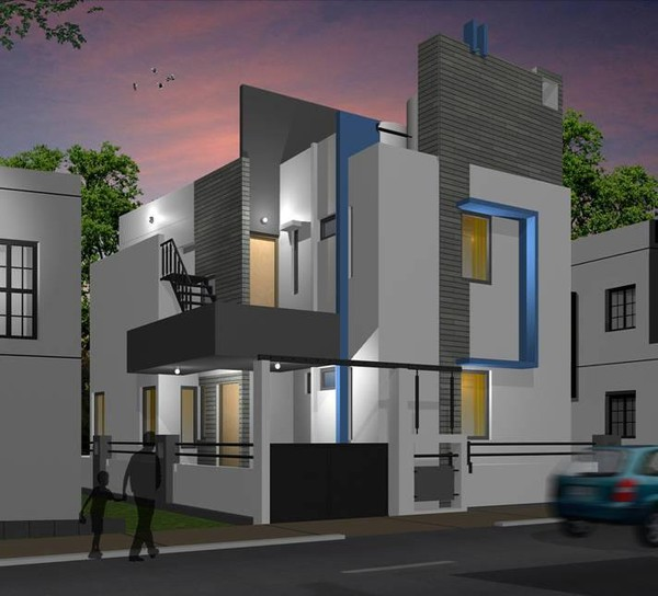 Modern bungalow designs india indian home design plans for Modern house designs and floor plans in india